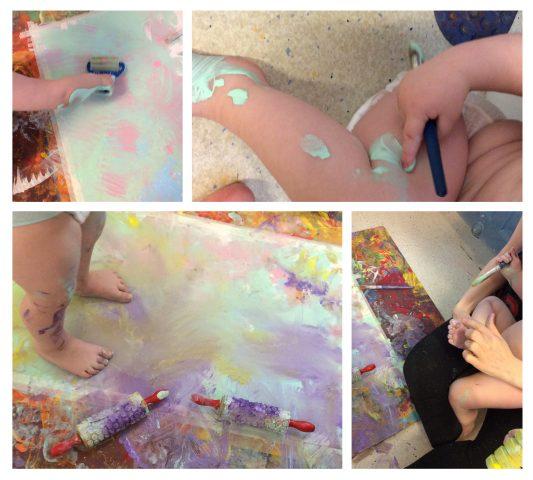 Barn kjenner på maling
