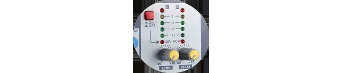 Illustrasjonsfoto av phantommating på en analog mikser.