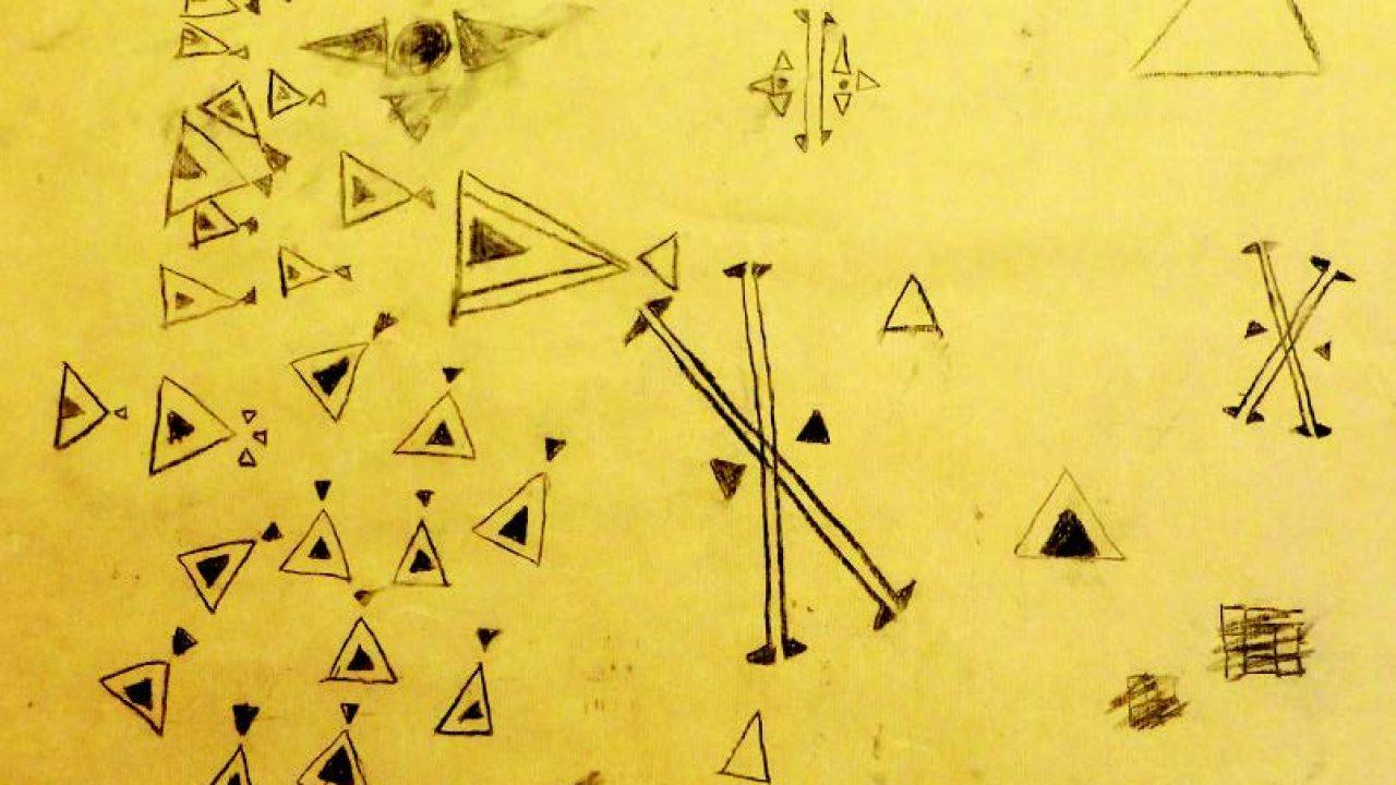 Kullstifttegninger av sørsamisk ornamentikk