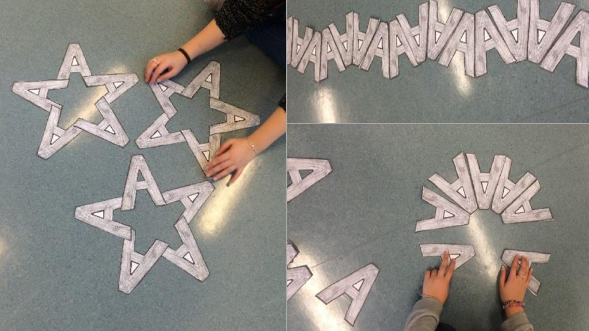 Hender som jobber med bokstaver