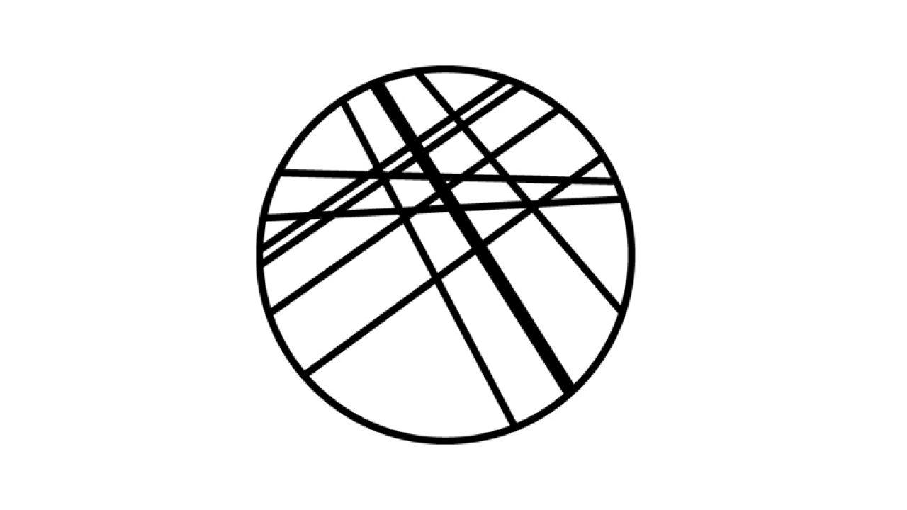 Symbol - sirkel med streker på