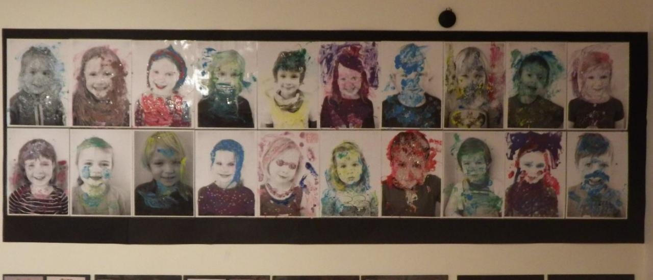 Fellesbilde av alle barnas portretter.