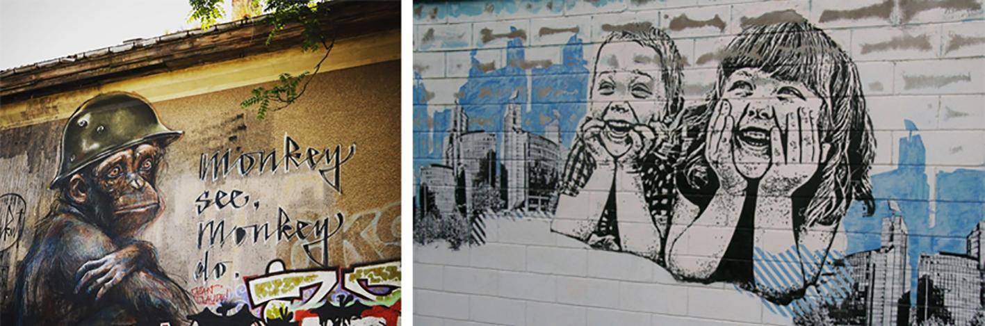 To profesjonelle grafittiarbeider.