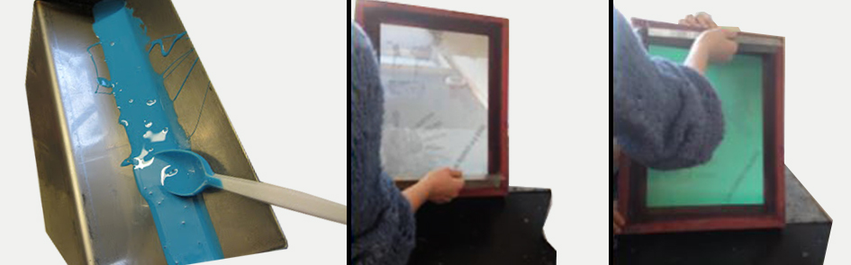Fotoemulsjon påføres silketrykkrammen