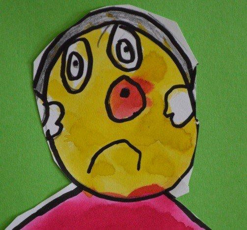 Klovnemaleri laget av barn.