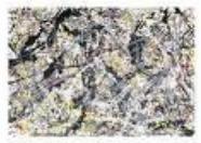Gråtoner, kunst av Jackson Pollock.