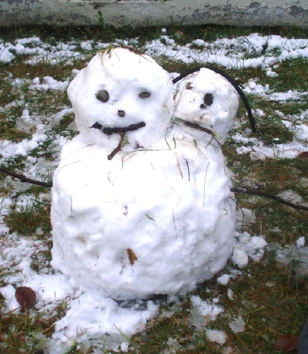 Snøskulptur