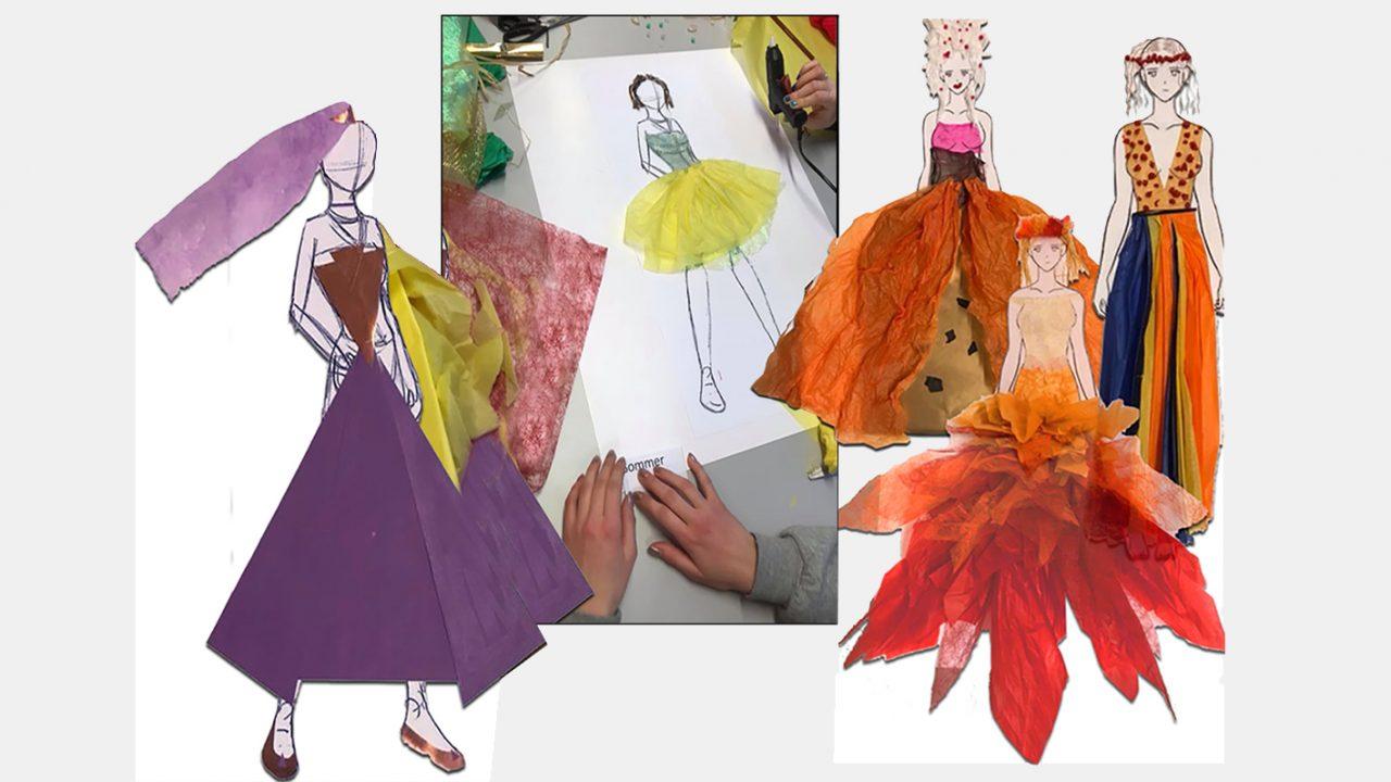 Fargerike ideskisser i collageteknikk