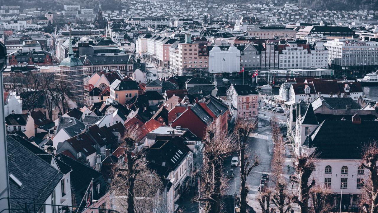 Oversiktsbilde over Bergen.