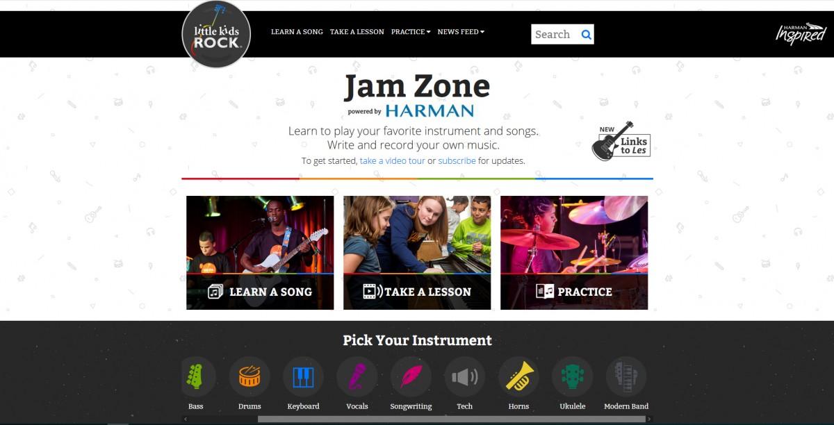 Skjermdump fra Jam Zone