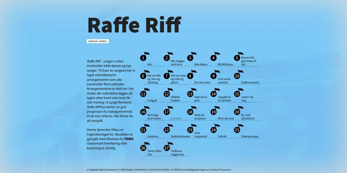 Skjermdump av Raffe Riff