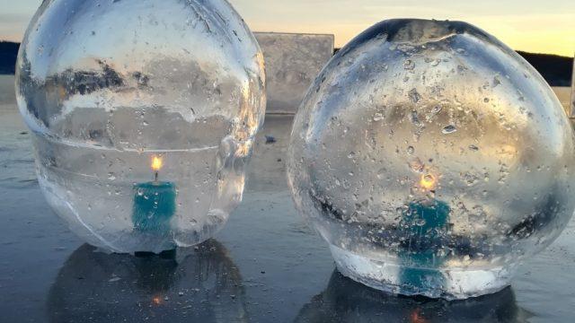 lykter av is lys
