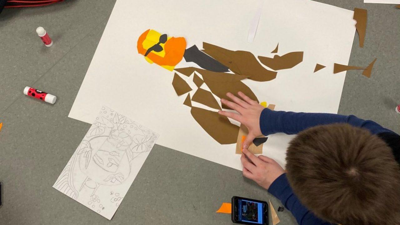 Barn papir kunst
